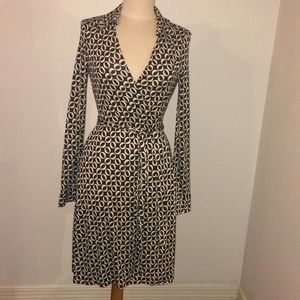 Vintage Diane von Furstenberg Black & White Dress